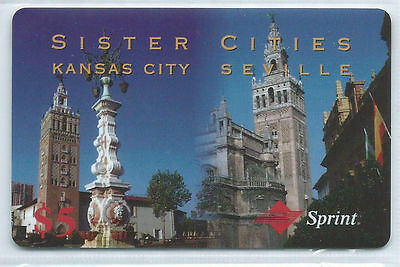USA Sprint - 5 $ Sister Cities - Kansas City Seville RS engl. NEU ** MINT +++