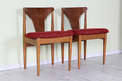 2 X Elliots Of Newbury (Eon) Mid Century Teak Dining Chairs  - Can Courier