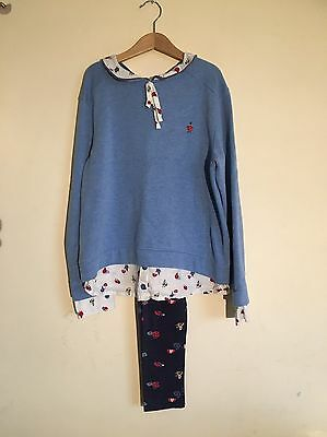 12y Next Girls Ladybird Leggings And Sweatshirt Outfit Ex Con