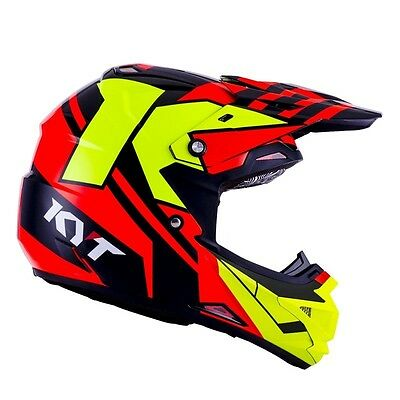 Casco Kyt Crossover Ktime Red/yellow Taglia S