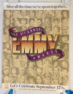 41st Annual Emmy Awards Poster / vintage 1989 Fox Broadcasting promo 18X24