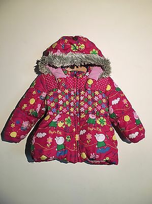 2-3y Next Peppa Pig Winter Coat Ex Con