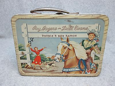 1953 First ROY ROGERS & DALE EVANS Tv Western LUNCHBOX #332 Narrow-Thin C#7.5