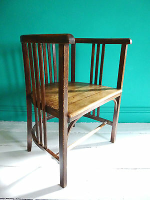 Secessionist Bentwood Chair By Carl. J. Krause.Circa Early 1900.