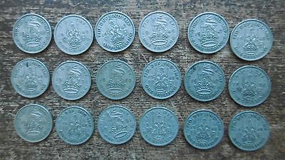 LOT OF 18x GEORGE VIth SHILLINGS - ALL VGC ! - COLLECT DISPLAY CHRISTMAS PUDDING