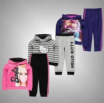 Infant Girls Branded Character Stylish 2 Pieces Jog Set Hoody Jogging Bottoms