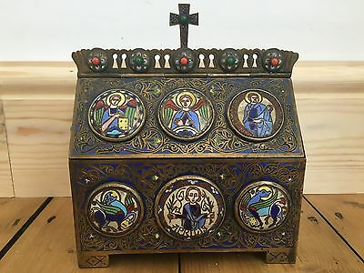 Antique Reliquary Orthodox Russian Chest Box