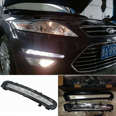 2x LED DRL Daytime Running Light Daylight Head Lamp for Ford Mondeo 2010-2013