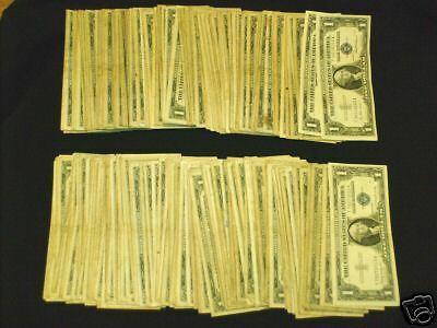 Unsearched Old Silver Certificate Washington Dollars