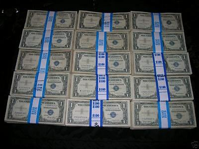 (10) 1935 & 1957 US $1 Silver Certificates Notes FREE SHIP!
