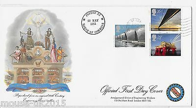 Gb 1983 Fdc Official Engineering House Of Commons Cancel.