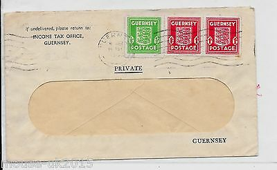 GUERNSEY 2½d RATE WINDOW EENVELOPE COVER (INCOME TAX)? 1945
