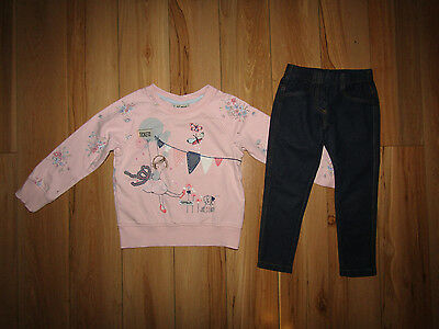 Next, girl butterfly top and leggings set for girl 3-4 years.