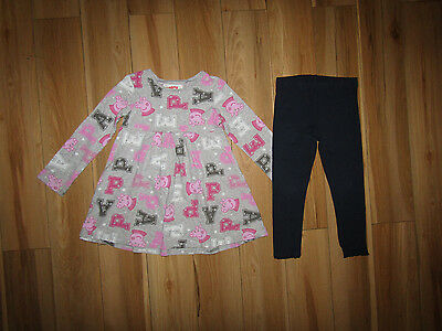 Next, peppa pig tunic top and leggings set for girl 3-4 years.