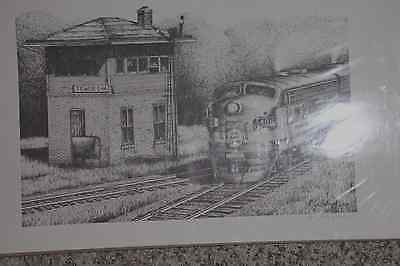 Minneapolis & St Louis Art Drawing Engine #408 Passing Tower E-14