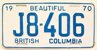 Vintage British Columbia Canada 1970 License Plate for Garage, Man Cave, Bar