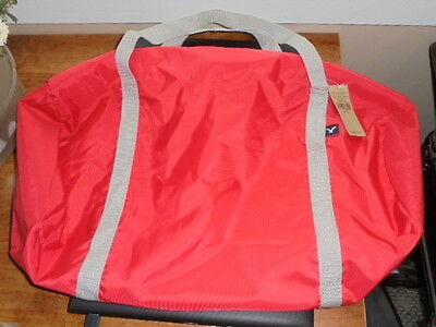 """Red Gray American Eagle Sports Duffle Gym Bag Travel Tote NEW 19"""" School"""