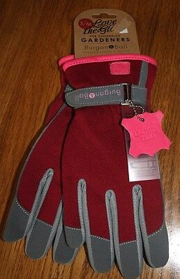 Brand New Burgon & Ball Quality Gardening Gloves Pink + Grey Leather Trim