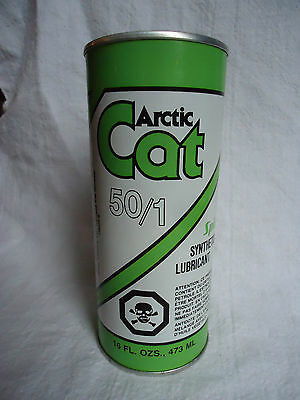 Arctic Cat Synthetic Lubricant 50/1 Full16 Oz.- Vintage Can - 2 Cycle Engine Oil