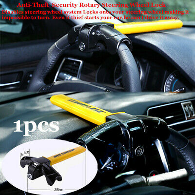 Anti-Theft Security Rotary Steering Wheel Lock Top Mount For SUV Auto Car Truck