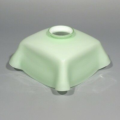 Vintage French Light Green Opaline Milk Glass Ceiling Shade