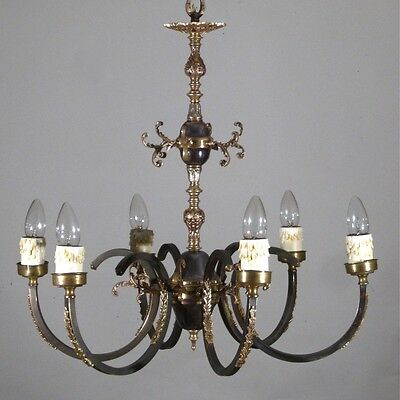 Vintage French Neoclassic Chandelier, Six Lights