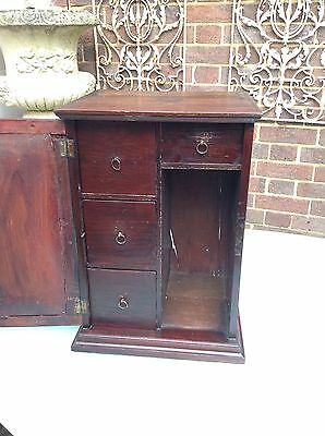 Antique 19th Century Wooden Four Drawer Specimen Spice  Collectors Cabinet