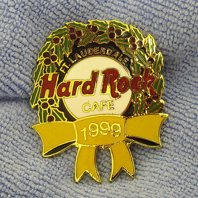 Hard Rock Cafe Pin Fort Lauderdale Christmas Wreath 1999