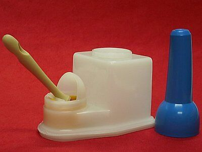 New Non Spill Glue Pot and Brush Cement Keeper Anti Evaporation Leather Craft