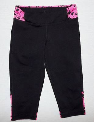 black and pink yoga athletic pants size 2 toddler HCB dots