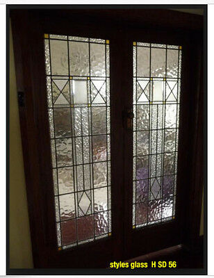 Beautiful Stain glass interior French Doors Pocket and Pre-hung solid wood