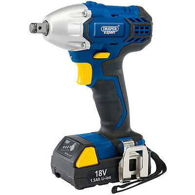 "Draper 83689 Ciw24 18V Cordless 1/2""sq Dr.impact Wrench With Two Batteries"