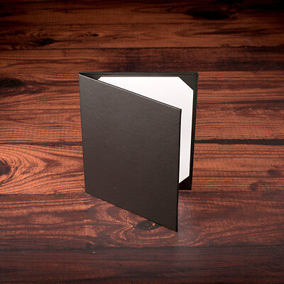 Restaurant Menu Covers. 2- Page. Premium Black Vinyl. 8.5 x 11 --- 6 PACK ---