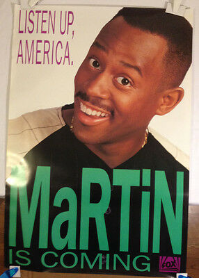 Martin promotional Poster / Martin Lawrence vintage 1992 Fox TV original 27X40