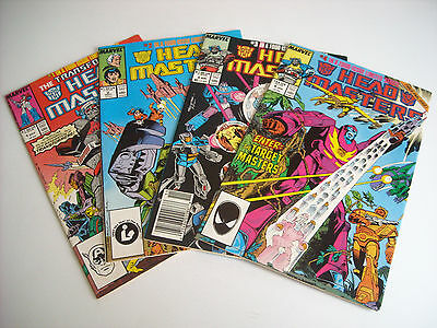 The Transformers Head Masters #1-4 Comic Book Lot Marvel 1987 Full Run Complete