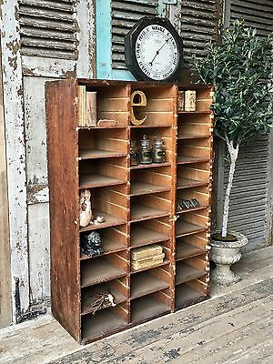 Vintage French Pigeon / Cubby Hole Cabinet / Display