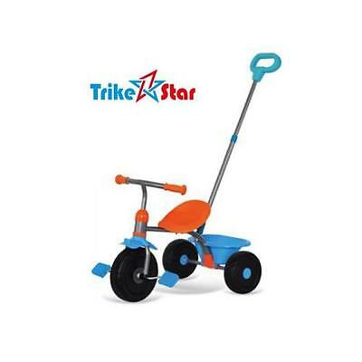 Trike Star 2 in 1 Kids Tricycle with Removable Parent Handle - Blue