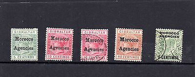 Morocco Agencies - mixed stamps