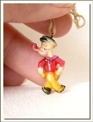 ANTIQUE 1930's POPEYE - FLEISCHER STUDIOS CELLULOID PENDANT CHARM ! SEE MORE !
