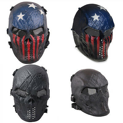Camouflage Hunting Masks Full Face Mask Ghost Outdoor CS Paintball Game Skull