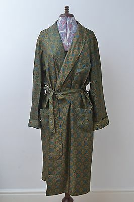Seriously Dapper Vintage Mens Patterned Smoking Jacket / Robe by St Michael