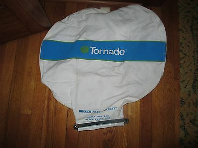 TORNADO Breuer 90377 Filter Bag Poly Fabric w/ Clean Out Clamps & Hook Up Nozzle
