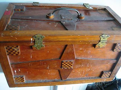 OLD Wooden Trunk/Box/Chest, fully hand crafted, Vintage, lidded, unusual find!