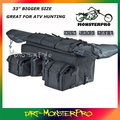 Mossy Oak ATV Quad Bike Cargo Storage Luggage Bag Water Proof Rifle Hunting Camp