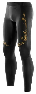 NEW Skins A400 Full Length Black Gold Running Pants Mens Long Compression Tights