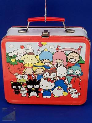 Hello Kitty 50 yrs of Sanrio Characters Metal Lunch Box Loungefly RARE GUC