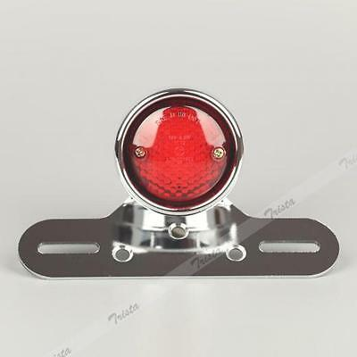 NEUF FEU STOP ARRIERE LED CHROME signal light rear moto phare rouge tail rear