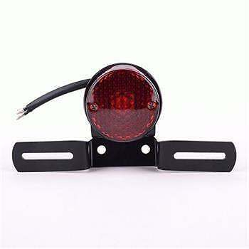 FEU STOP ARRIERE  NOIR MAT signal light rear moto phare tail CUSTOM