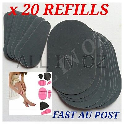 Hair Removal Exfoliator Replacement Pads Arm Legs Upper Lip Face Smooth Skin