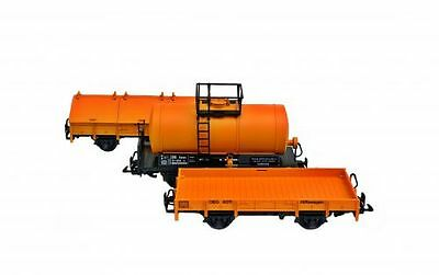 Zenner Set with 3 Construction wagon converted from Spur G to Gauge 2 64mm,